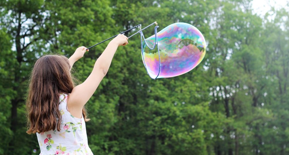 Child, bubble, permission, MOPS blog